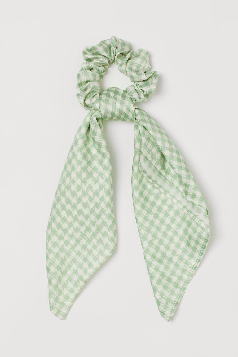 Chouchou vichy vert H&M