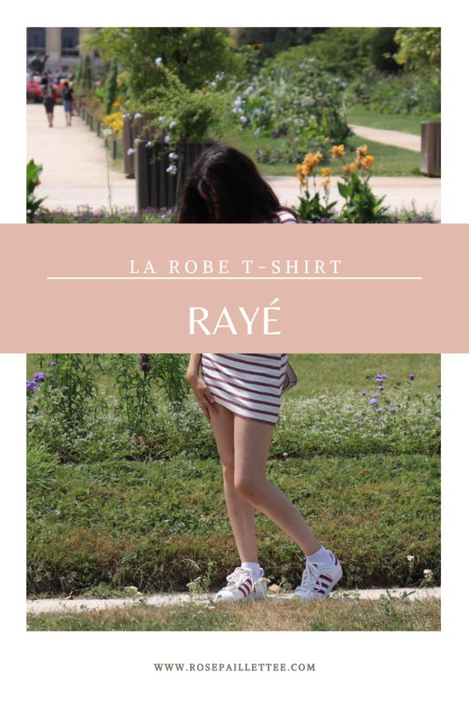 La robe T-shirt rayé