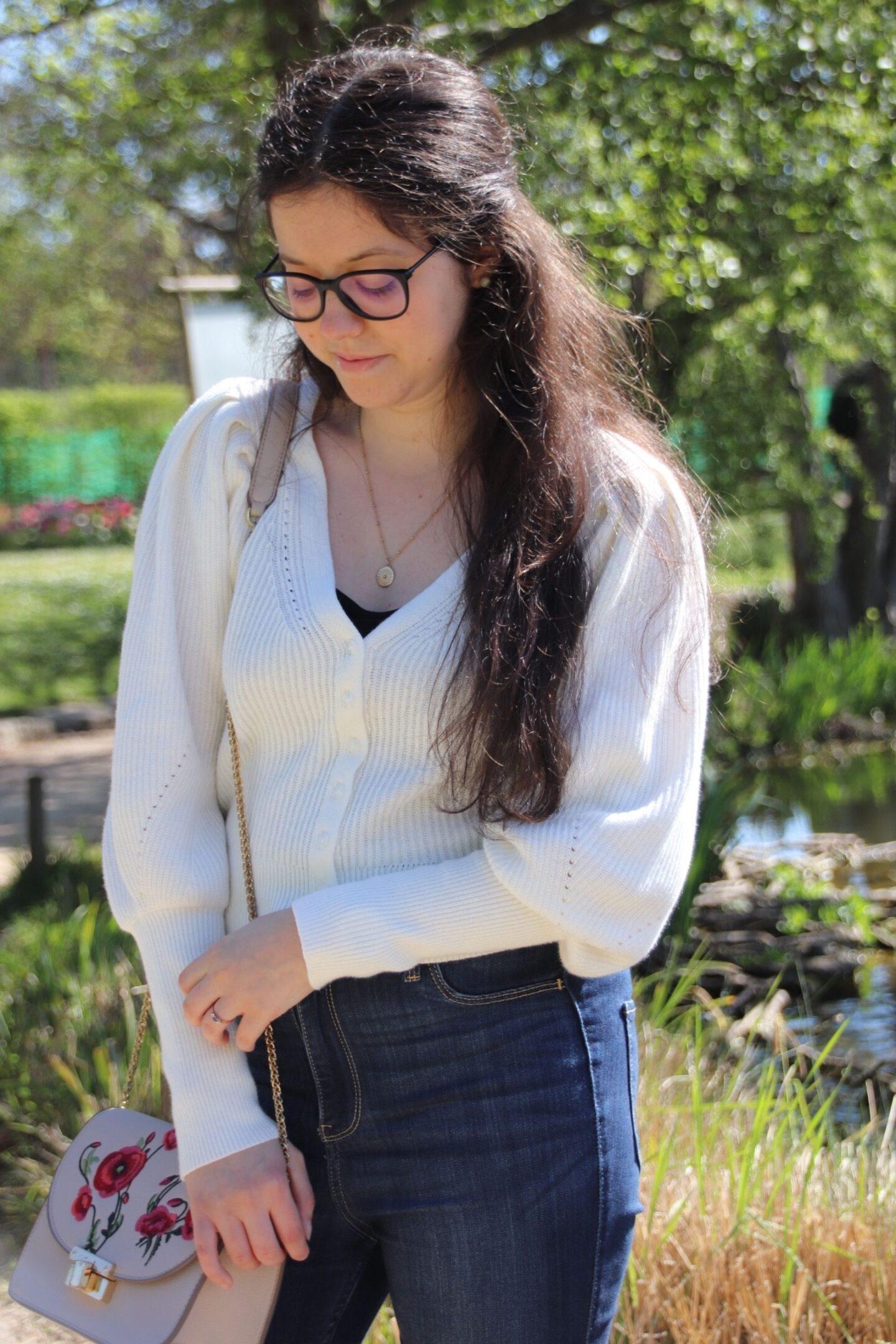Le gilet blanc pour le printemps