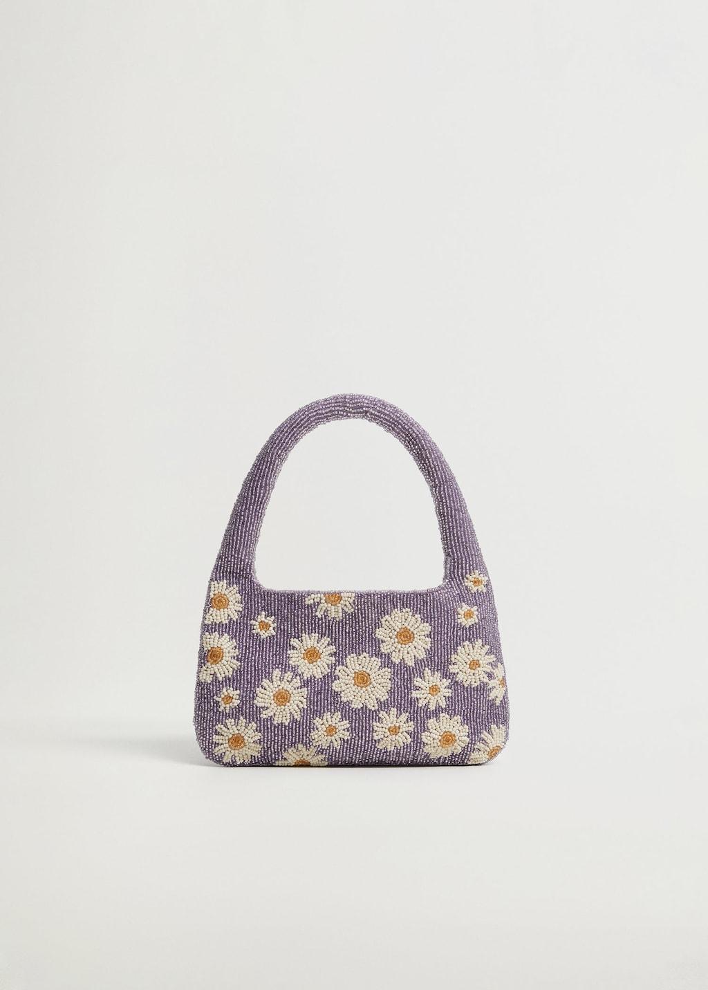 Mini sac petites perles fleurs