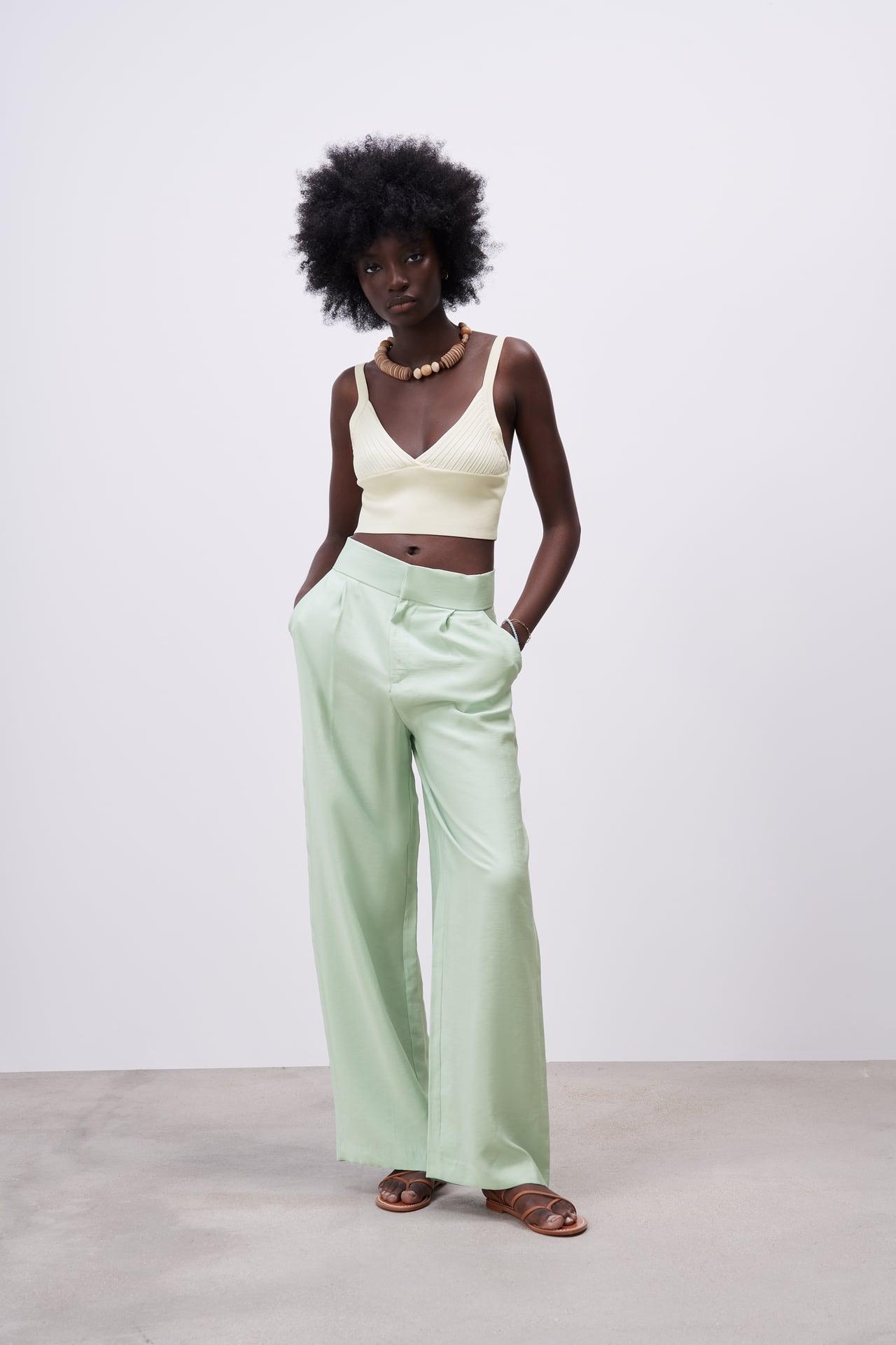 Pantalon vert Zara