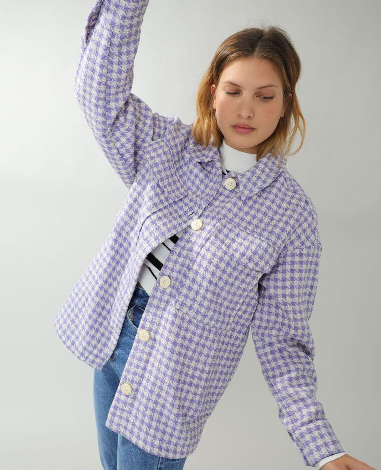 Surchemise en tweed violet Pimkie