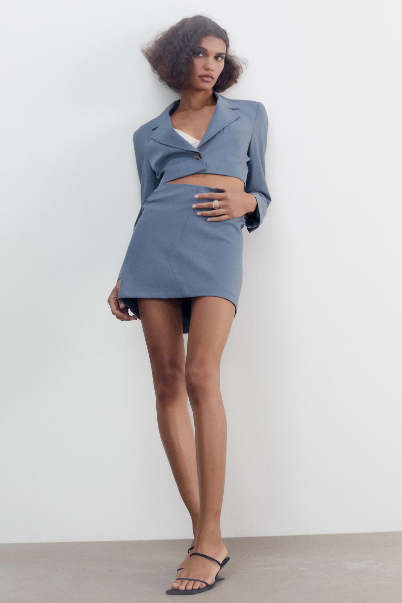 Tailleur mini jupe Zara